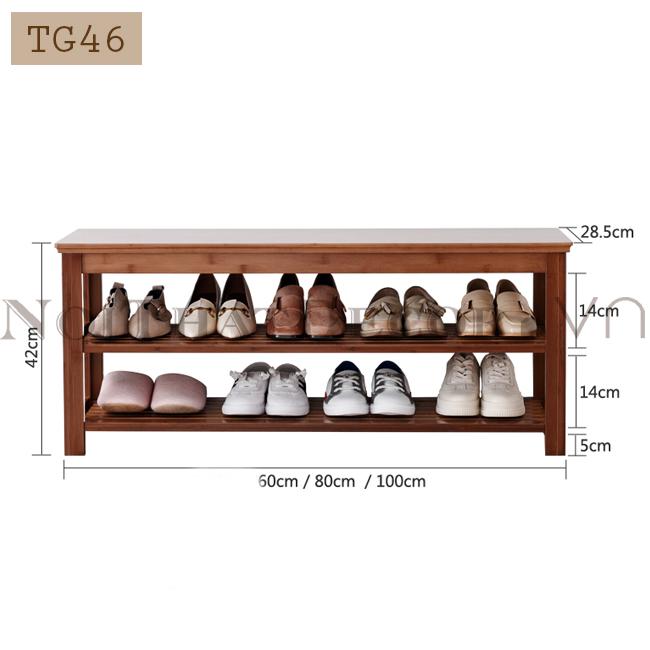 Giá kệ giày dép có ghế ngồi TG46