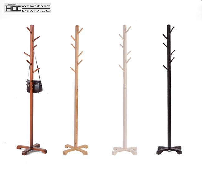 Cây treo quần áo bằng gỗ mẫu 11