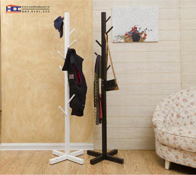 Cây treo quần áo bằng gỗ mẫu 4
