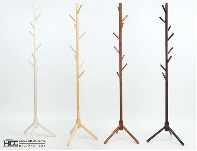 Cây treo quần áo bằng gỗ mẫu 5