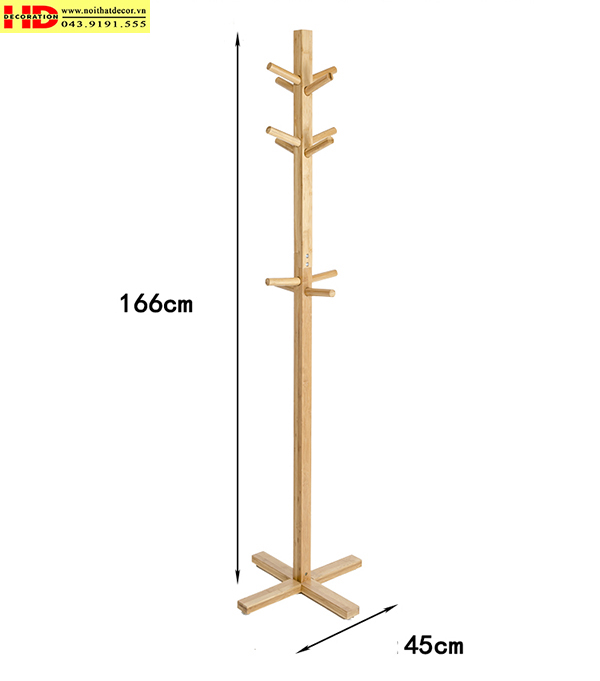 Cây treo quần áo bằng gỗ mẫu 3