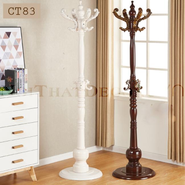 cây treo quần áo bằng gỗ cho phòng ngủ