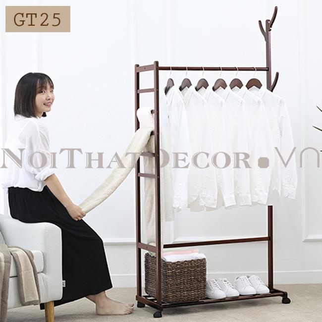 cây treo quần áo, giá treo quần áo, giá treo quần áo gỗ Noithatdecor.vn