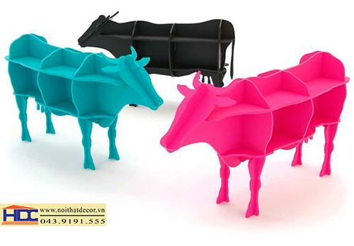 Kệ sách hình bò sữa KT - 003