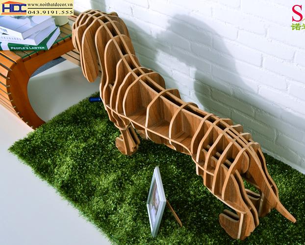 kệ sách đẹp kệ sách tiện lợi giá sách con vật giá kệ sách hình con chó Noithatdecor.vn
