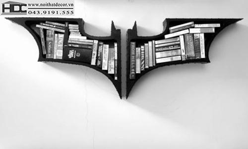 kệ sách đẹp kệ sách tiện lợi giá sách con vật giá kệ sách hình con dơi Noithatdecor.vn