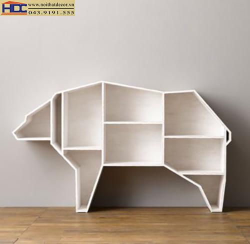 kệ giá sách kệ sách đẹp kệ sách hình con vật kệ sách hình con gấu ver 3 Noithatdecor.vn