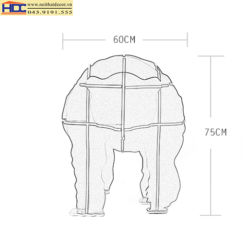 Kệ sách hình con gấu KT - 014
