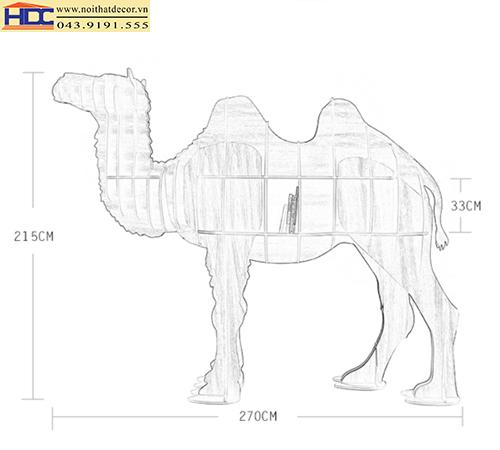 kệ sách đẹp kệ sách tiện lợi giá sách con vật giá kệ sách hình con lạc đà Noithatdecor.vn