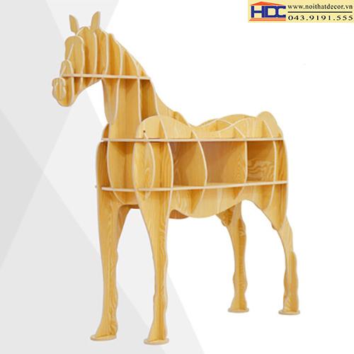 kệ sách đẹp kệ để đồ đẹp kệ hình thú đẹp kệ tiện lợi giá kệ hình con ngựa 2 Noithatdecor.vn