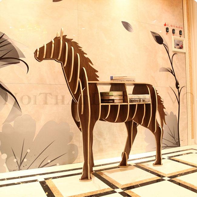 Kệ sách hình con ngựa KT - 015