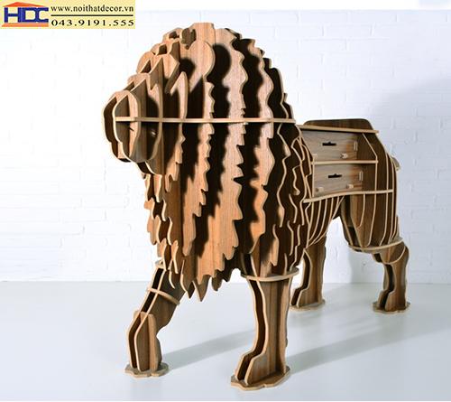 kệ sách đẹp kệ sách hình con vật kệ giá sách hình con sư tử Noithatdecor.vn