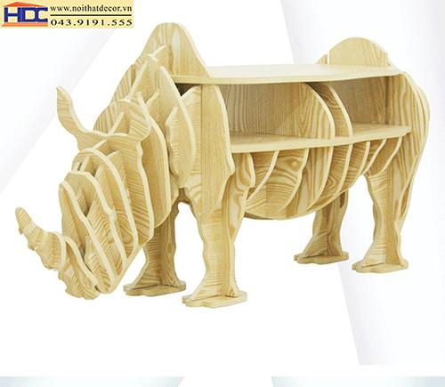 kệ sách đẹp kệ sách hình con vật kệ sách hình con tê giác 1 Noithatdecor.vn