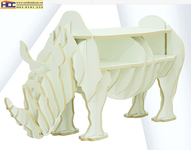 Kệ sách hình con tê giác KT-018