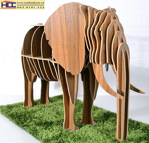 kệ sách đẹp kệ sách tiện lợi giá sách con vật giá kệ sách hình con voi ver 2 Noithatdecor.vn