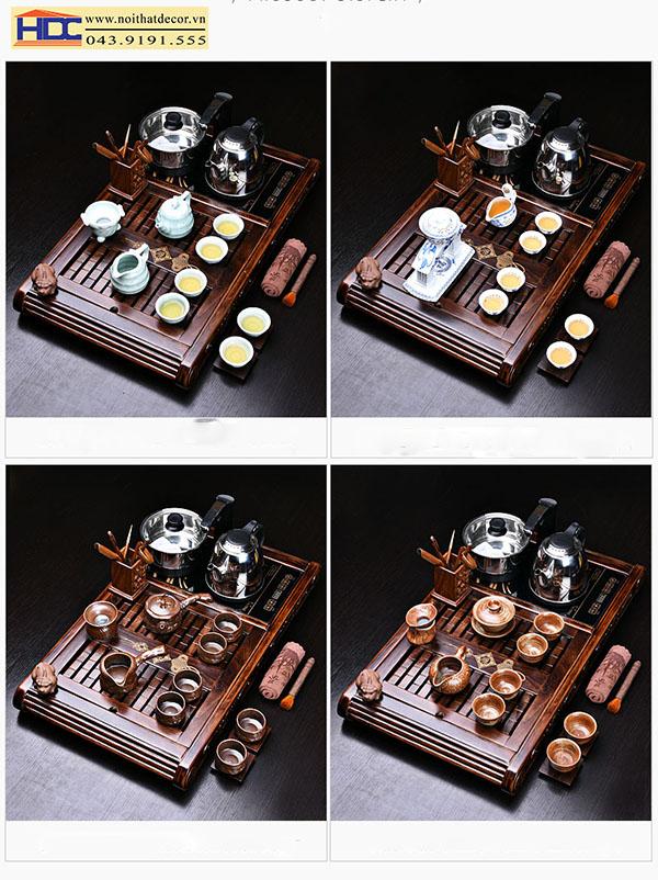 khay trà bàn trà cơi trà dụng cụ pha trà Noithatdecor.vn