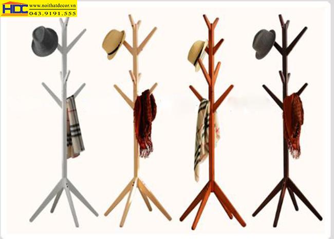 Cây treo quần áo bằng gỗ mẫu 1