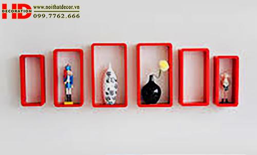 Kệ treo tường kệ trang trí chữ nhật Giá để đồ đẹp NoiThatDecor.vn